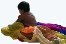 Chance Arts: child with colourful silk scarves